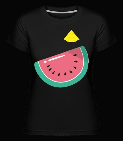 Sun Melon -  Shirtinator Women's T-Shirt - Black - Front
