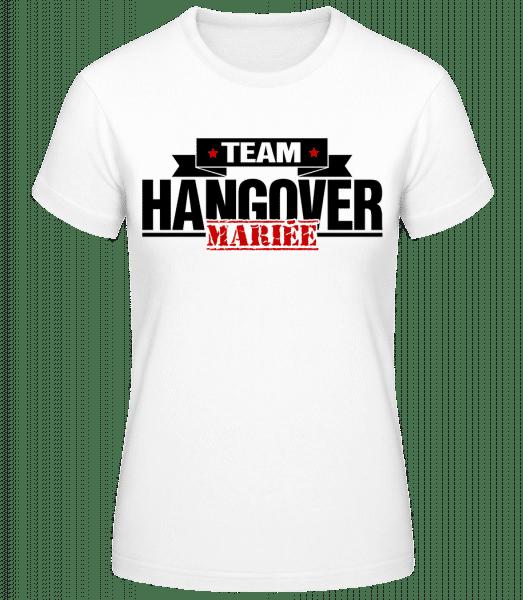 Team Hangover Mariée - T-shirt standard Femme - Blanc - Devant