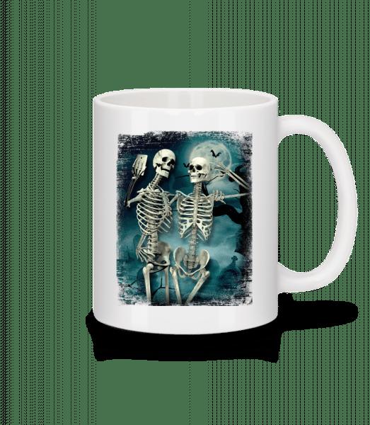 Skeleton Selfie - Mug - White - Vorn