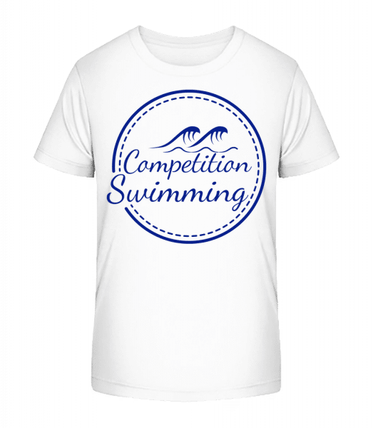 Competition Swimming - T-shirt bio Premium Enfant - Blanc - Devant