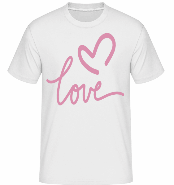 Love -  Shirtinator Men's T-Shirt - White - Vorn