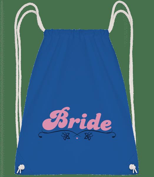 Bride - Drawstring Backpack - Royal blue - Vorn