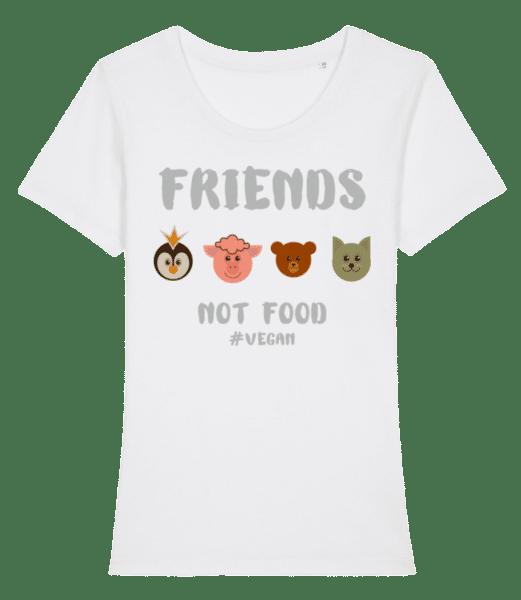Friends Not Food - Women's Premium Organic T-Shirt Stanley Stella - White - Vorn