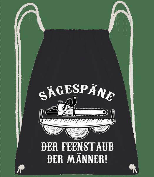 Sägespäne - Turnbeutel - Schwarz - Vorn