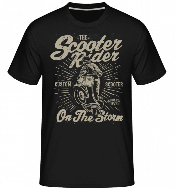 Scooter Rider -  Shirtinator Men's T-Shirt - Black - Front