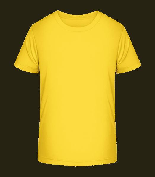 T-shirt bio Premium Enfant - Jaune - Vorn