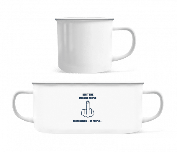 Morning People - Enamel-cup - White - Vorn