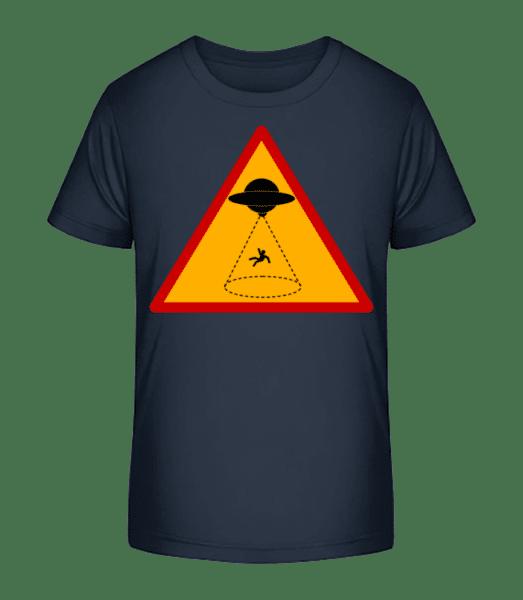 Ufo Zone - Kid's Premium Bio T-Shirt - Navy - Front