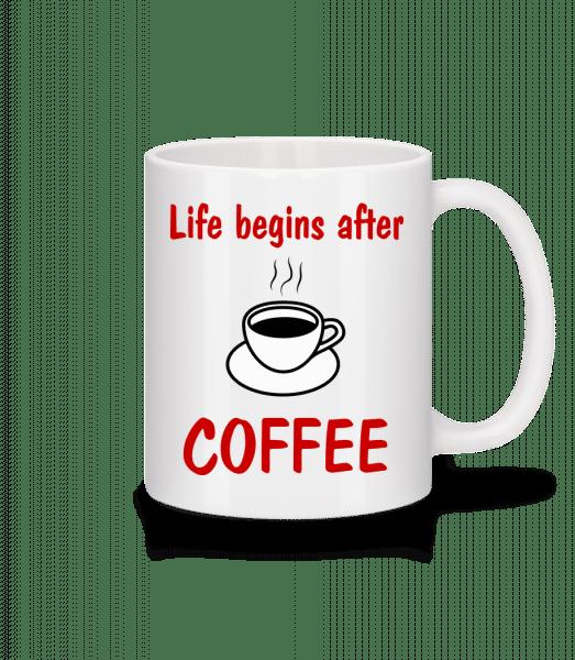 Life Begins After Coffee - Mug - White - Vorn