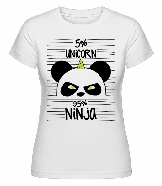 Unicorn Ninja -  Shirtinator Women's T-Shirt - White - Front