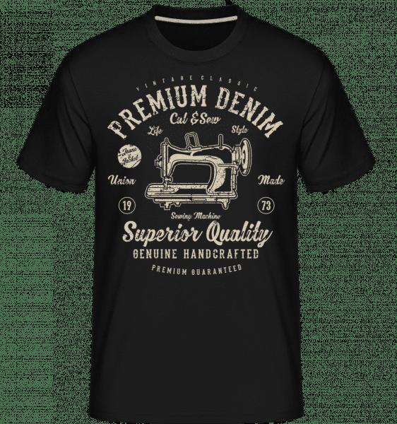 Premium Denim -  Shirtinator Men's T-Shirt - Black - Front