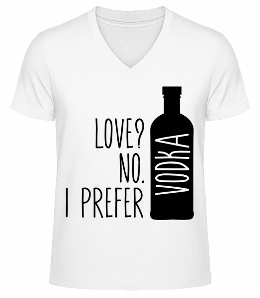 I Prefer Vodka - Men's V-Neck Organic T-Shirt - White - Vorn