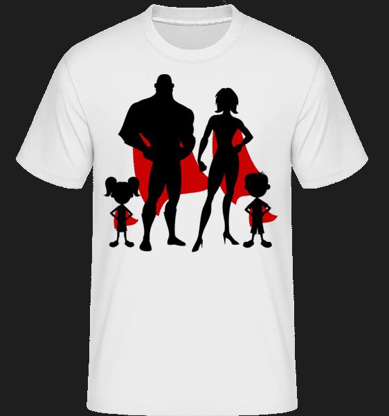 Superhero Family - Shirtinator Männer T-Shirt - Weiß - Vorn