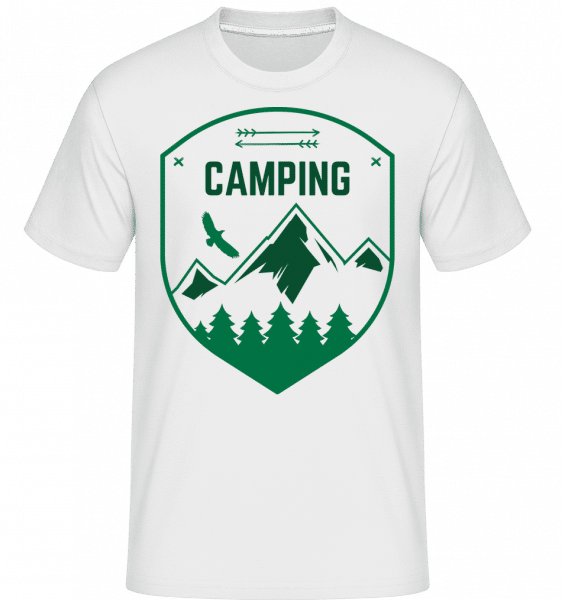 Camping Sign -  Shirtinator Men's T-Shirt - White - Vorn