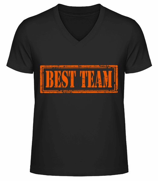 Best Team Sign - Men's V-Neck Organic T-Shirt - Black - Vorn