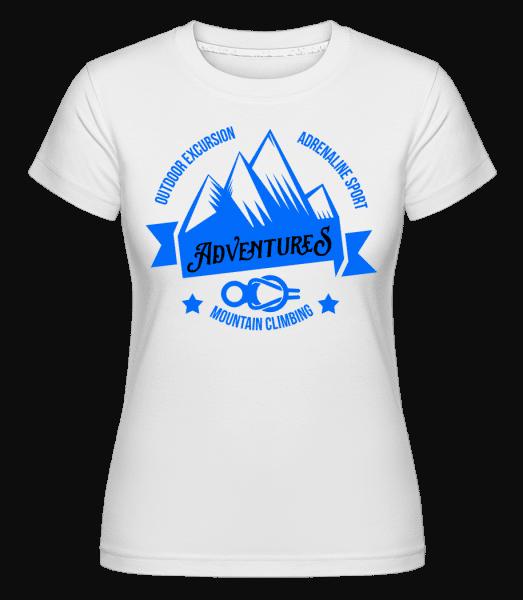 Climbing Adventures -  Shirtinator Women's T-Shirt - White - Vorn