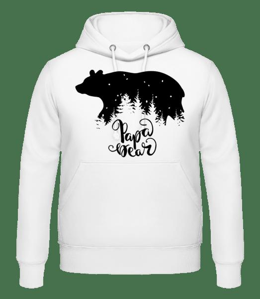 Papa Bear - Men's Hoodie - White - Vorn