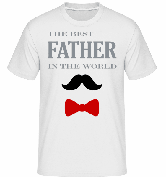 The Best Father In The World -  Shirtinator Men's T-Shirt - White - Vorn