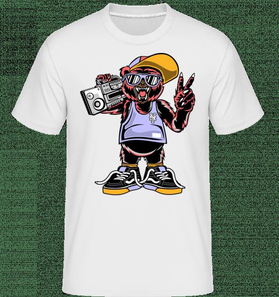Cool Bear -  Shirtinator tričko pro pány - Bílá - Napřed