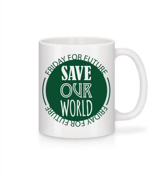 Save Our World - Tasse - Weiß - Vorn