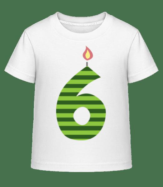 Birthday Candle - Kid's Shirtinator T-Shirt - White - Front