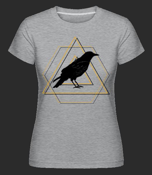 Geometric Raven - Shirtinator Frauen T-Shirt - Grau meliert - Vorn