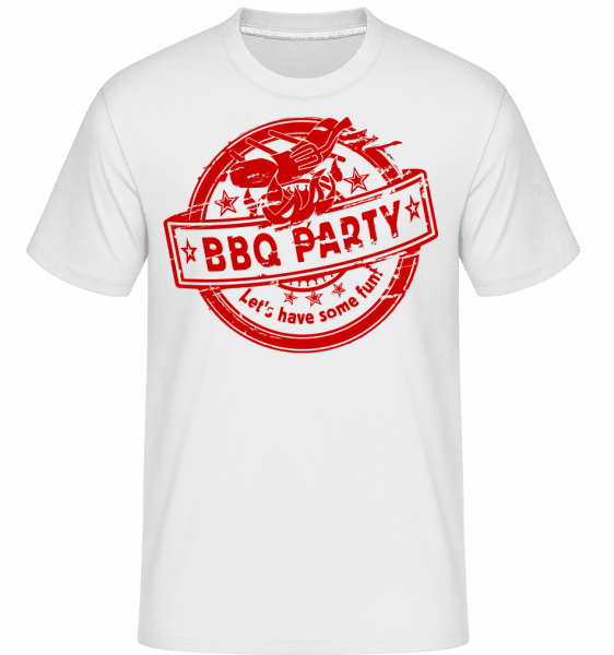 BBQ Party Sign -  Shirtinator Men's T-Shirt - White - Vorn