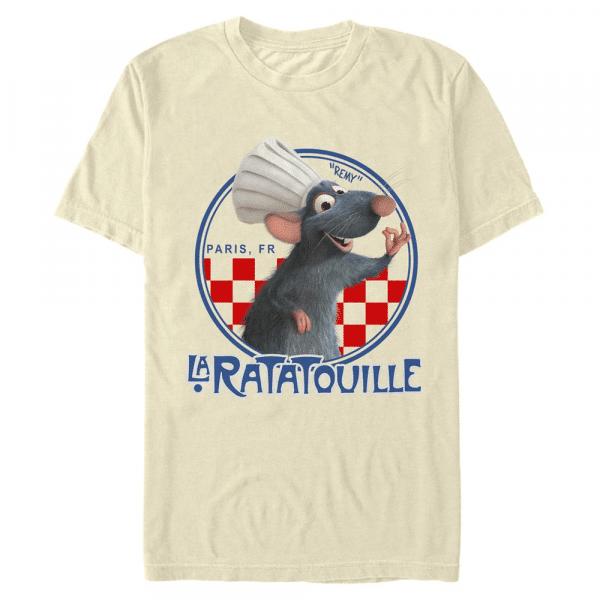 Chef Remy - Pixar Ratatouille - Men's T-Shirt - Cream - Front
