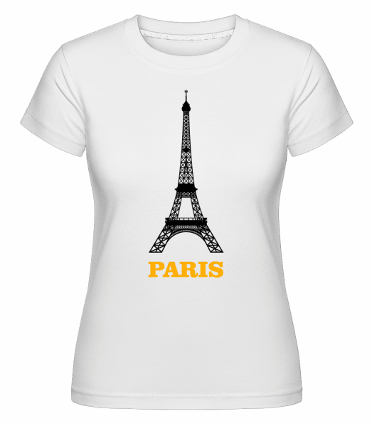 Paris Skyline -  Shirtinator Women's T-Shirt - White - Front
