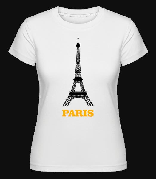Paris Skyline -  T-shirt Shirtinator femme - Blanc - Vorn