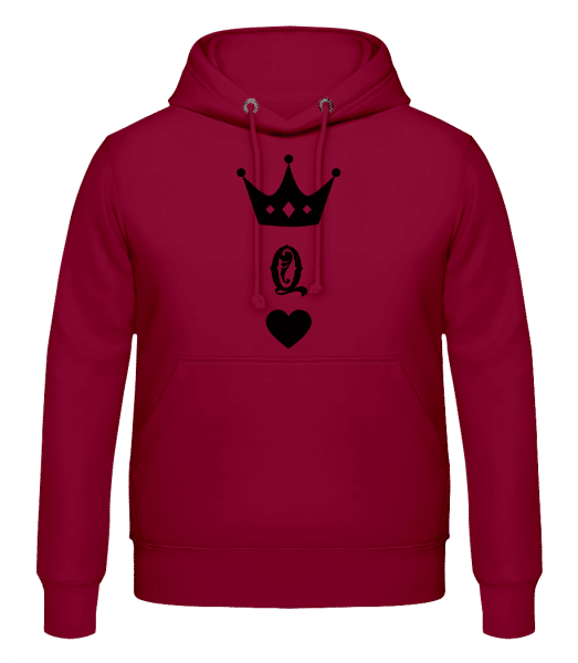 Queen Crown - Men's Hoodie - Bordeaux - Vorn