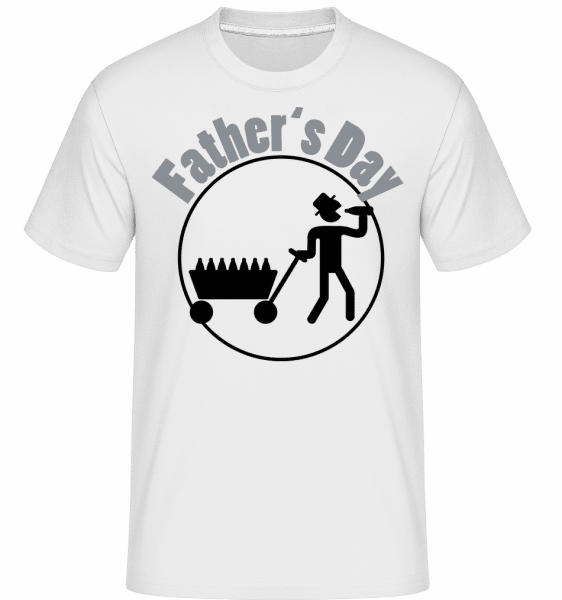 Father's Day Icon -  Shirtinator Men's T-Shirt - White - Front