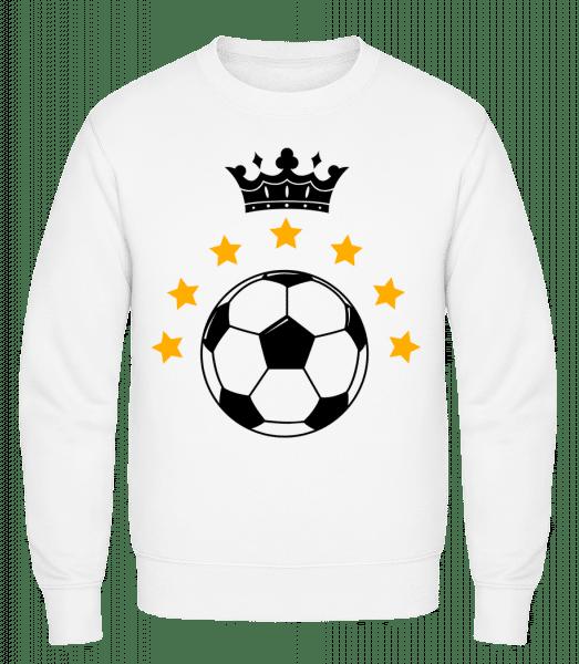 Football Crown - Classic Set-In Sweatshirt - White - Vorn