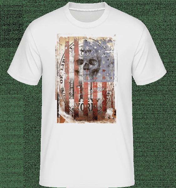 New York Skull -  Shirtinator Men's T-Shirt - White - Vorn