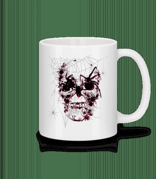 Totenkopf Spinnen - Tasse - Weiß - Vorn