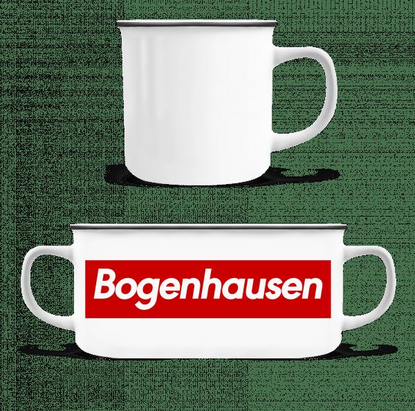 Bogenahausen - Emaille-Tasse - Weiß - Vorn