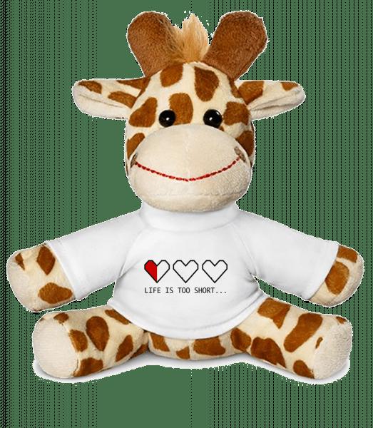 Life Is Too Short - Giraffe - White - Vorn
