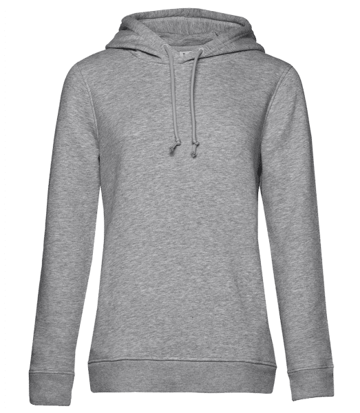 Women Organic Premium Hoodie Sider - Heather grey - Front