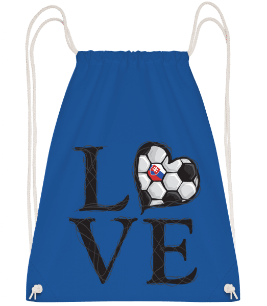 Football Love Slovakia - Drawstring Backpack - Royal blue - Vorn