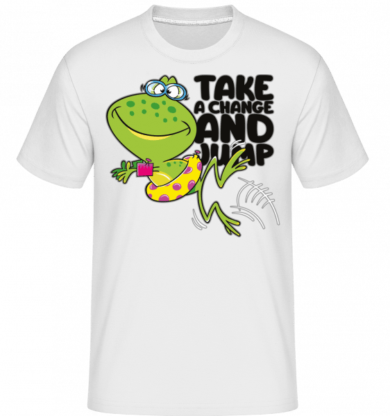 Frog Jump -  Shirtinator Men's T-Shirt - White - Vorn