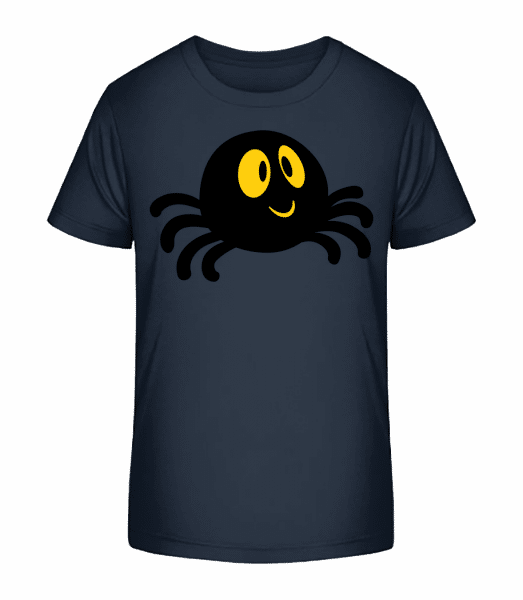 Cartoon Spider - Kid's Premium Bio T-Shirt - Navy - Vorn
