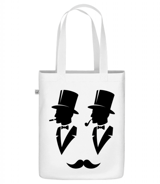 """Two Gentlemen - Organic """"Earth Positive"""" tote bag - White - Front"""