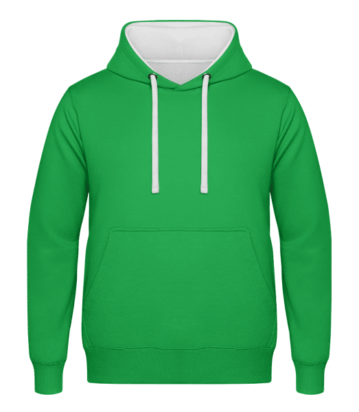 Unisex Two-Toned Hoodie - Kelly green - Vorn
