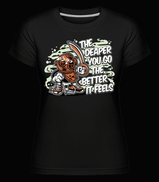 Diver -  Shirtinator Women's T-Shirt - Black - Vorn