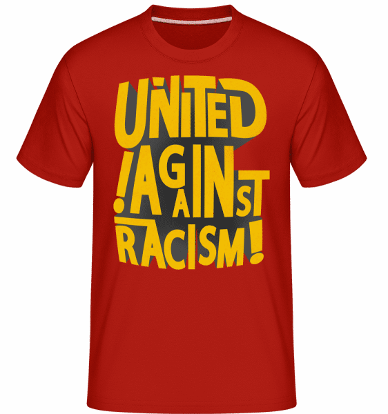 United Against Racism -  Shirtinator Men's T-Shirt - Red - Front