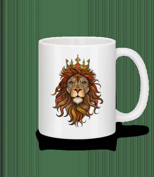lví král - Keramický hrnek - Bílá - Napřed