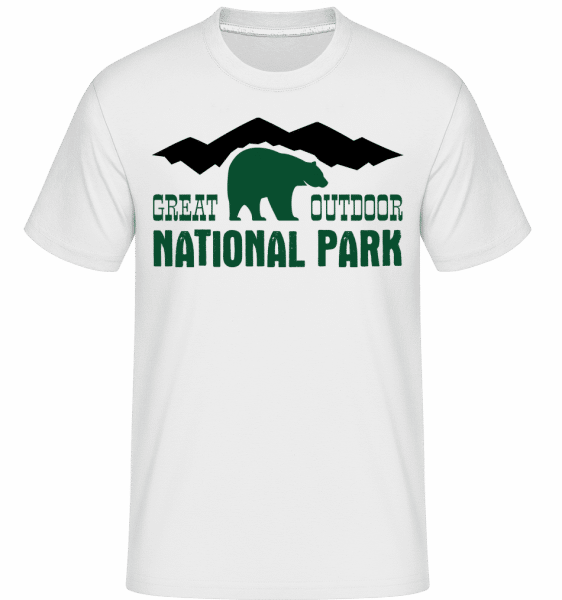 Great Outdoor National Park Icon -  Shirtinator Men's T-Shirt - White - Front