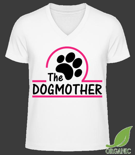 "The Dogmother - ""James"" Organic V-Neck T-Shirt - White - Vorn"