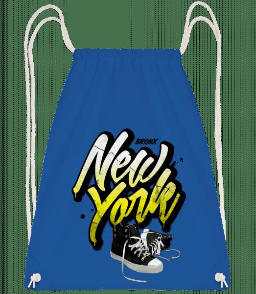 Bronx New York - Drawstring Backpack - Royal blue - Vorn