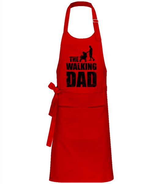 The Walking Dad - Professional Apron - Red - Vorn